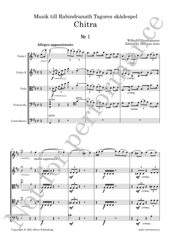 Stenhammar - Chitra Full Score web