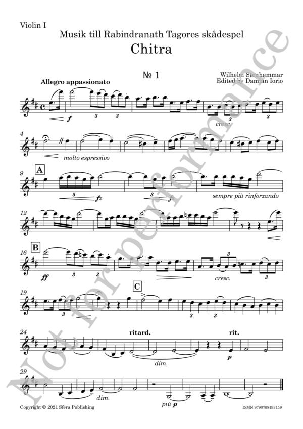 Stenhammar - Chitra - Violin I web